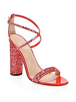49991199b Product image. QUICK VIEW. Giuseppe Zanotti. Glitter Block Heel Sandals