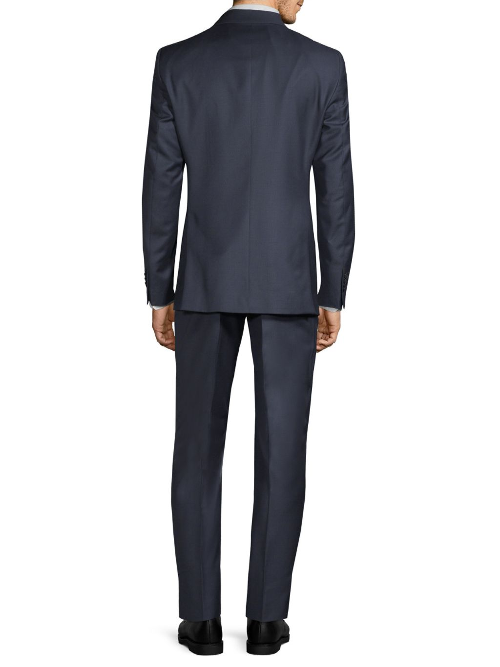 Saks Fifth Avenue Made in Italy Slim-Fit Micro Check-Print Wool Suit
