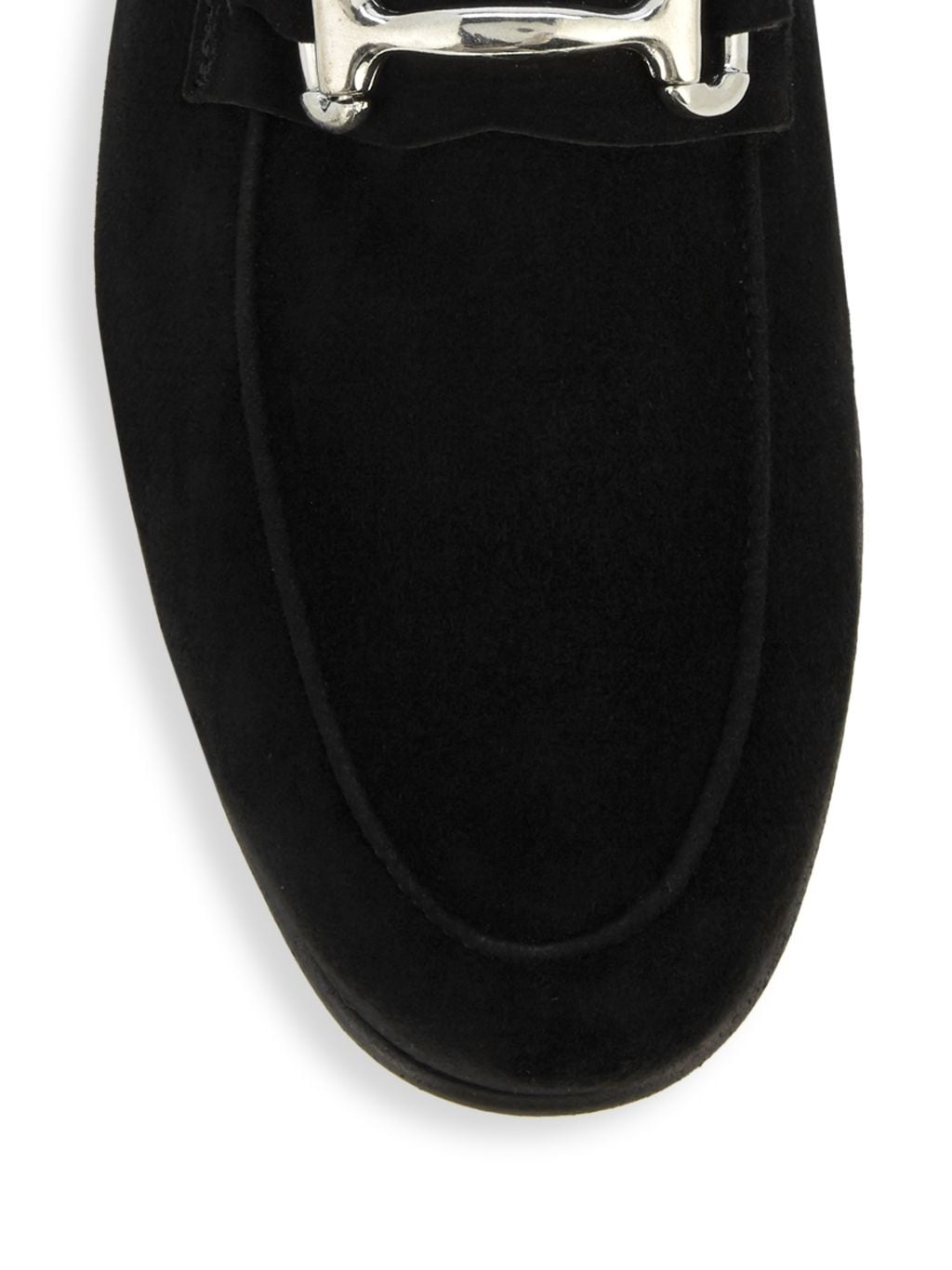 Saks Fifth Avenue Made in Italy Flex Suede Bit Loafers