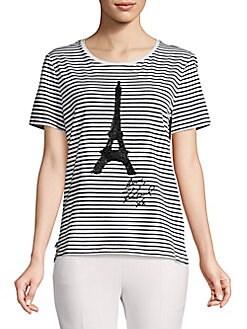 d74c58e09 Karl Lagerfeld Paris | Women - Apparel - Tops - T-Shirts & Tanks ...