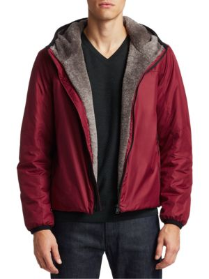 Saks Fifth Avenue COLLECTION BY ESEMPLARE Eco Faux Fur-Lined Short Jacket