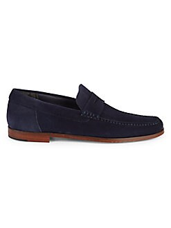 6bd12825f3e1f Stockton Suede Penny Loafers BLUE. QUICK VIEW. Product image