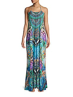 a9033da20a NEW. Jungle Fusion Maxi Cover-Up Dress BLUE. QUICK VIEW. Product image