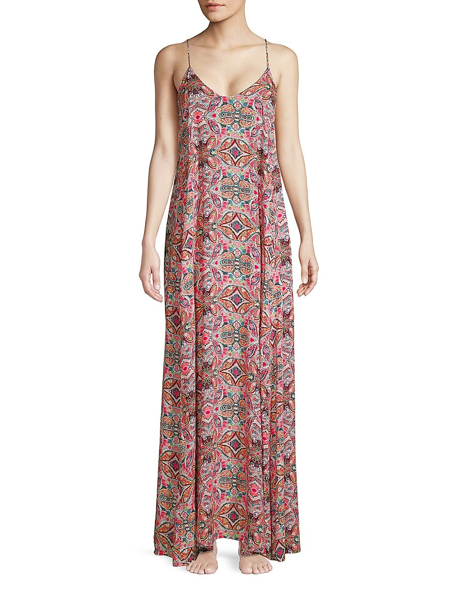 Women's Printed Maxi Cover Up Dress