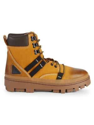 Diesel Leather Hiking Boots In Sunshine