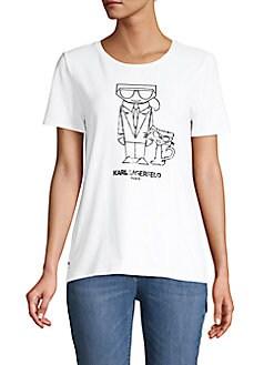 34de5a2b991f Karl Lagerfeld Paris | Women - Apparel - Tops - T-Shirts & Tanks ...