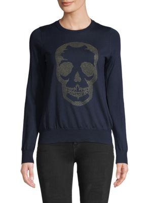 Zadig & Voltaire Sweaters Miss Skull Merino Wool Sweater