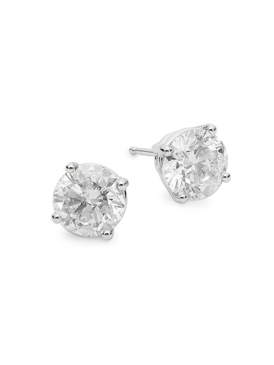 Women's 14K White Gold & 3 TCW Diamond Stud Earrings