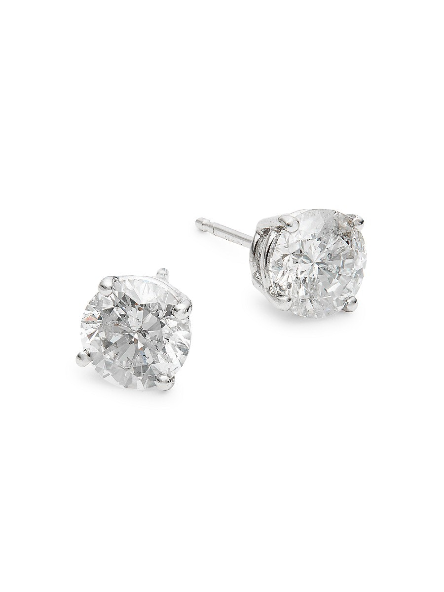 Women's 14K White Gold & 2 TCW Diamond Stud Earrings