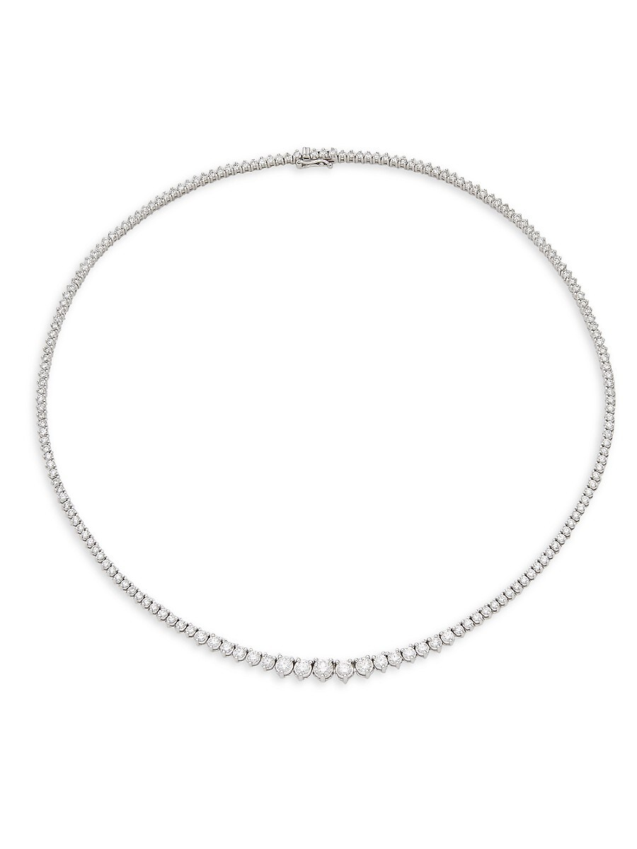 Women's 14K White Gold & 6.5 TCW Diamond Tennis Necklace