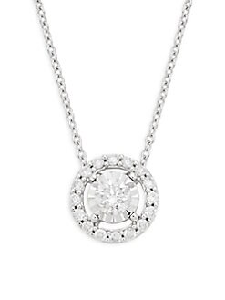 ad3bb2a9f QUICK VIEW. Effy. 14K White Gold and Diamond Pendant Necklace