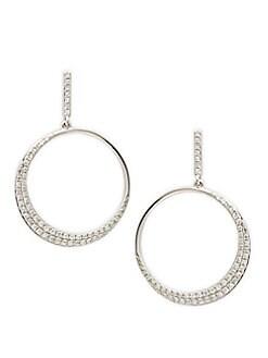 1c3d4dfbea8c0a Product image. QUICK VIEW. Effy. 14K White Gold & Diamond Drop Earrings