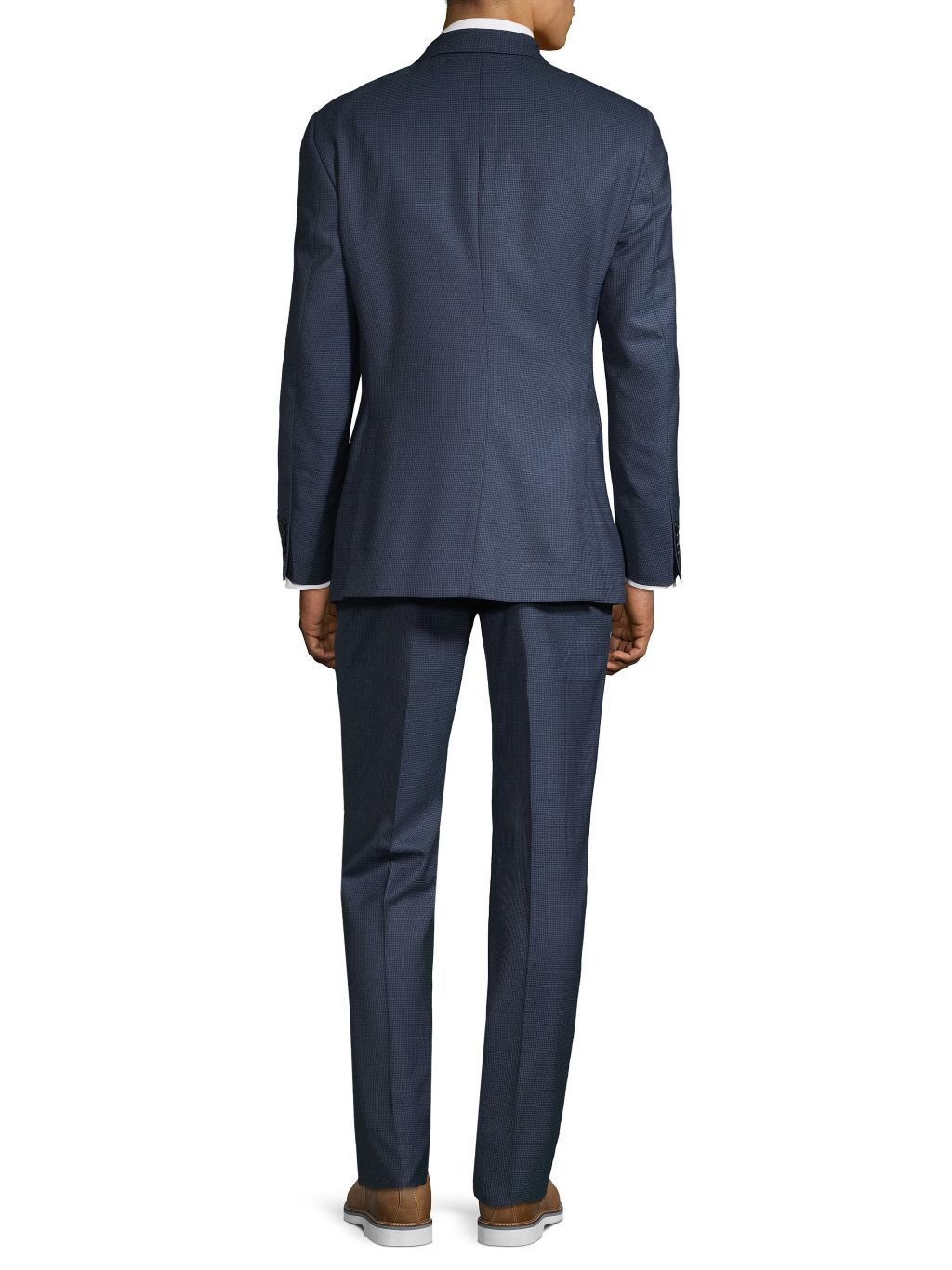 Saks Fifth Avenue Made in Italy Slim-Fit Checked Wool Suit