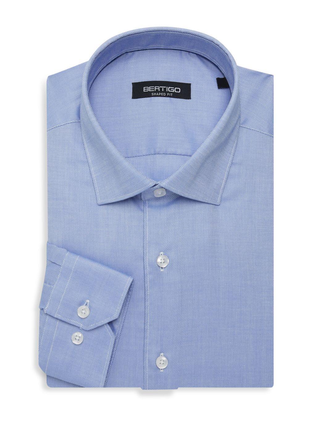 Bertigo Shaped-Fit Oxford Dress Shirt