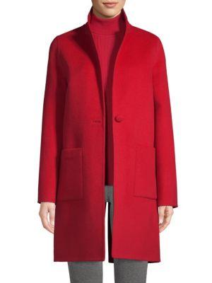 St. John Coats Wool & Angora Blend Coat