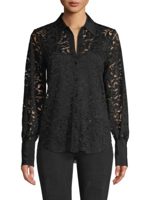 L'agence T-shirts Embroidered Lace Shirt