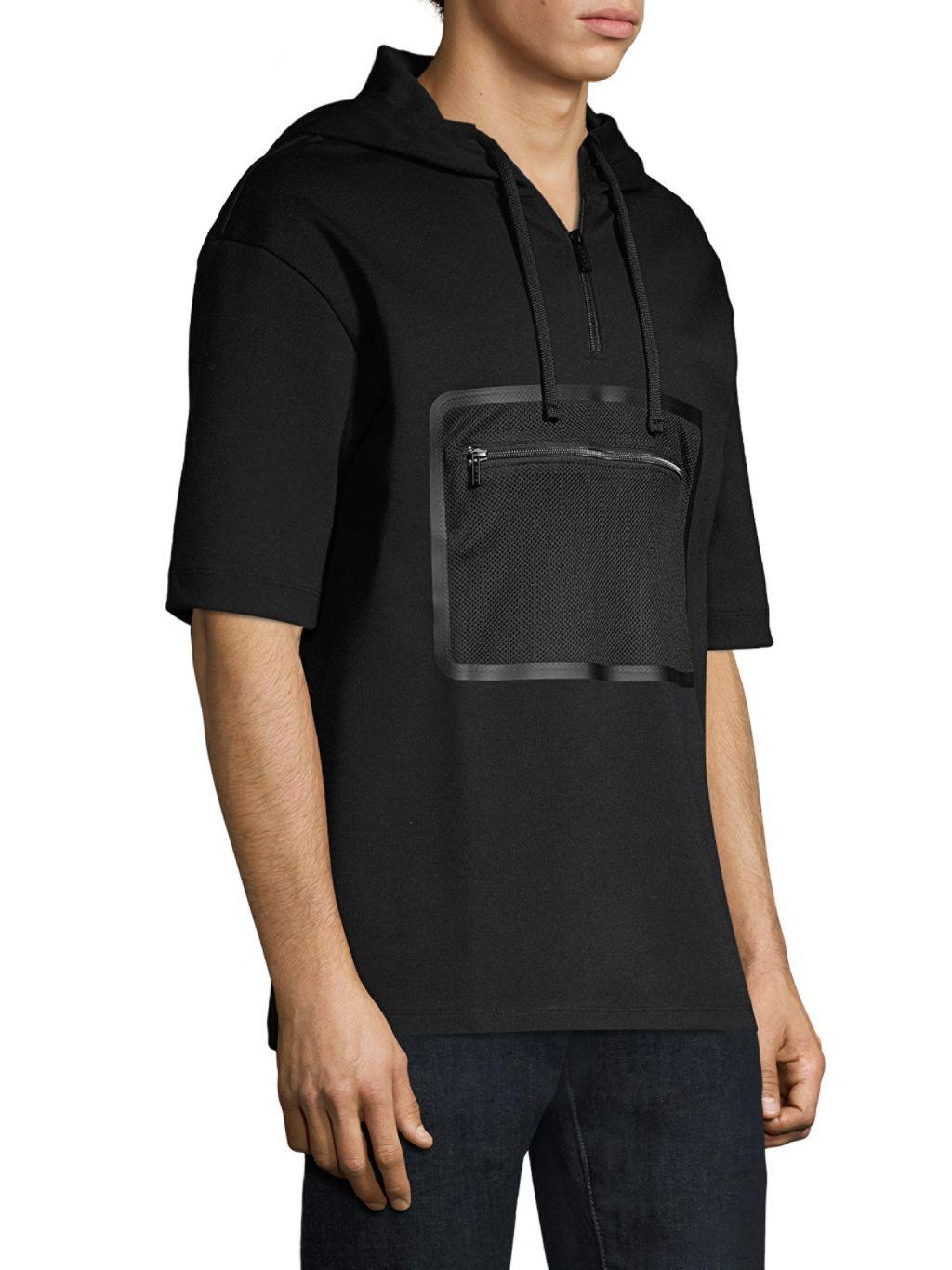 HUGO Dolet Short-Sleeve Cotton Sweatshirt