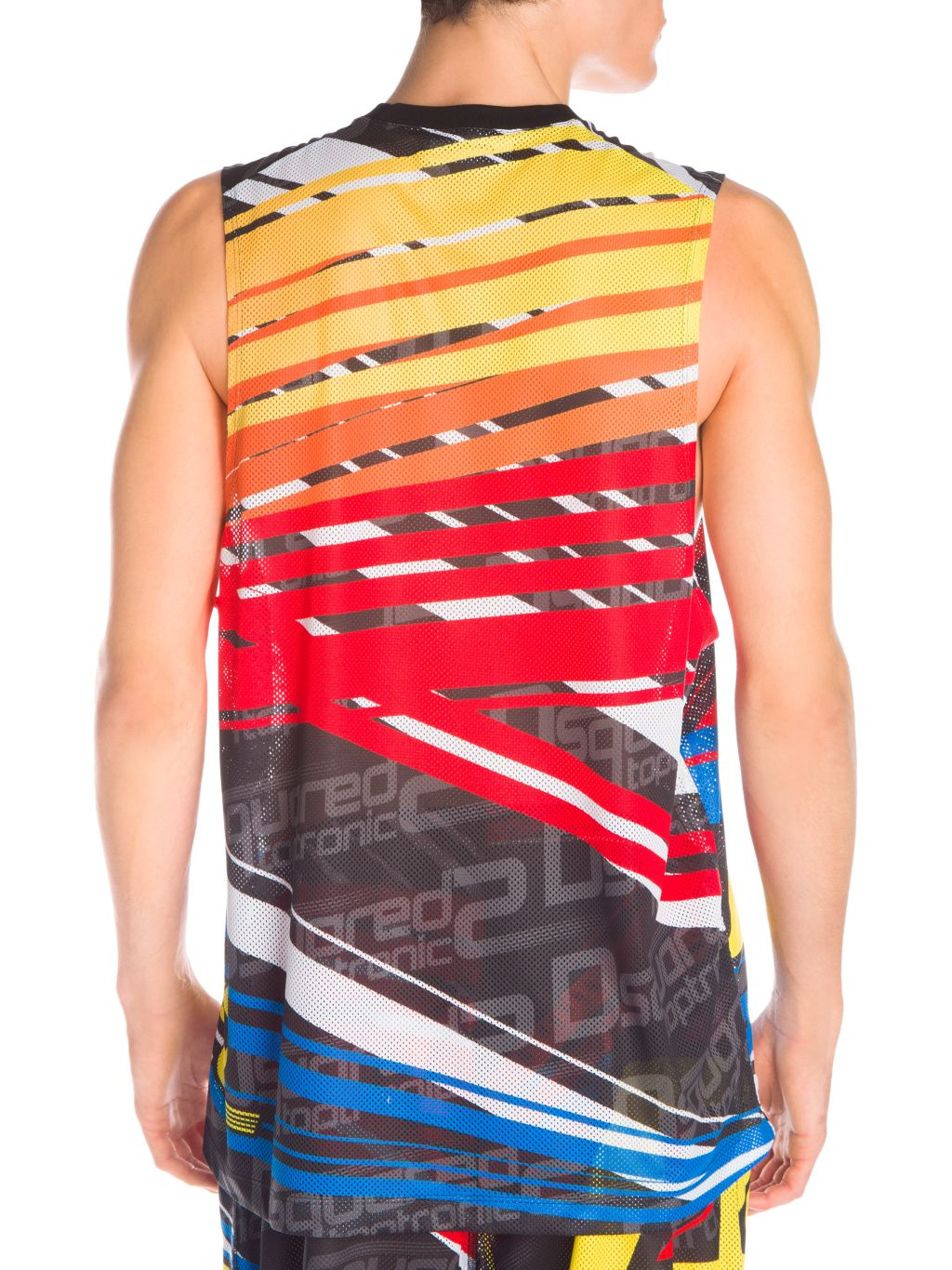 Dsquared2 Taptronic Perforated Muscle Tank Top