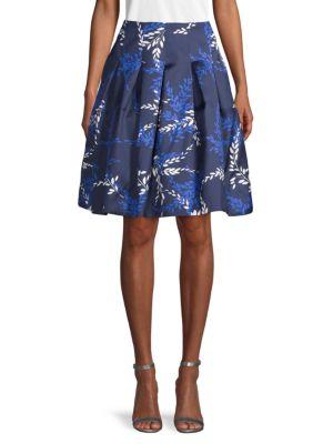 Oscar De La Renta Skirts Silk & Cotton Printed Skirt
