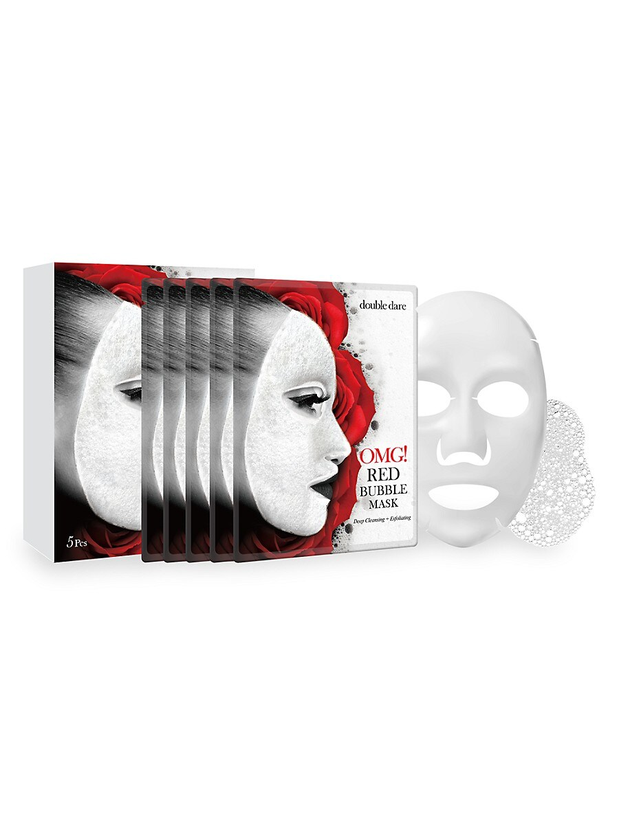 Women's OMG! 5-Piece Deep Cleansing & Exfoliating Red Bubble Mask Set