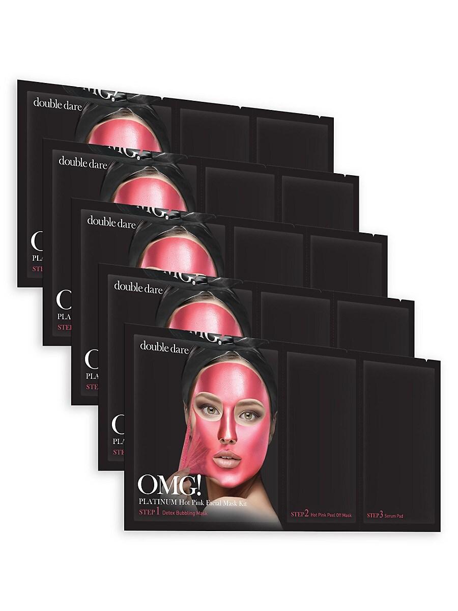 Women's OMG! 5-Piece Platinum Facial Mask Kit
