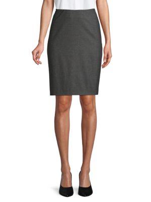 Giorgio Armani Skirts Cashmere-Blend Pencil Skirt
