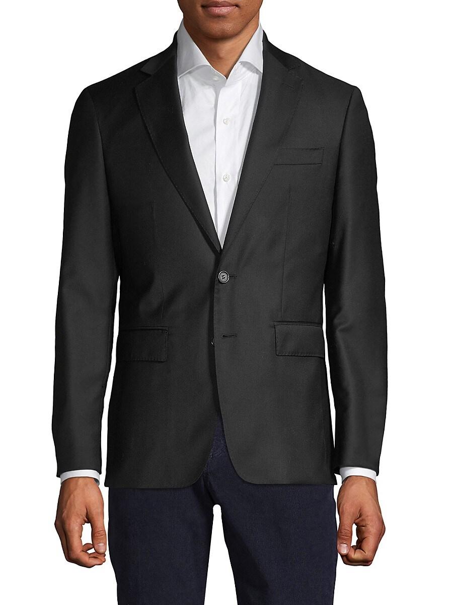 Men's Solid Wool Blazer