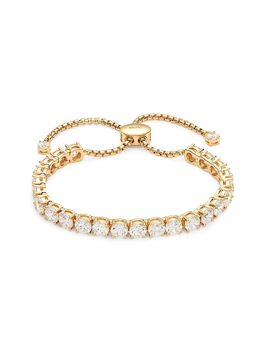 Women's Goldtone & Crystal Bolo Bracelet