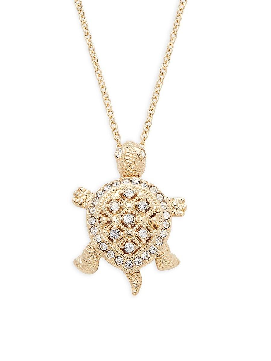 Women's Goldtone & Pavé Crystal Turtle Pendant Necklace