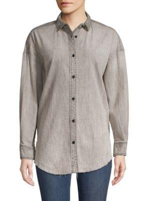 Hudson T-shirts Long-Sleeve Cotton-Blend Shirt