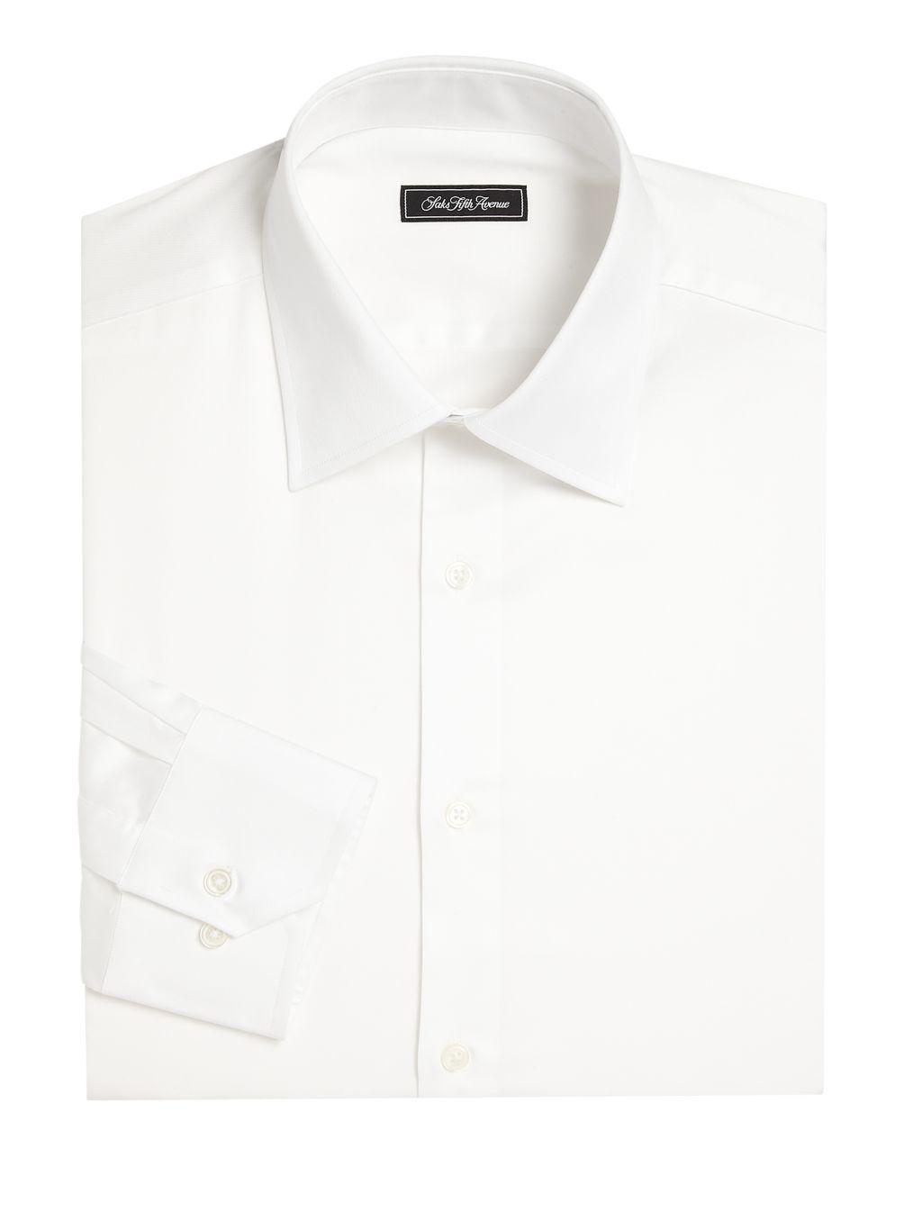 Saks Fifth Avenue COLLECTION Regular-Fit Cotton Dress Shirt