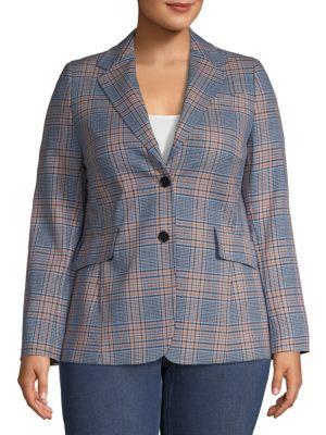 Akris Punto Jackets Plaid Wool-Blend Jacket