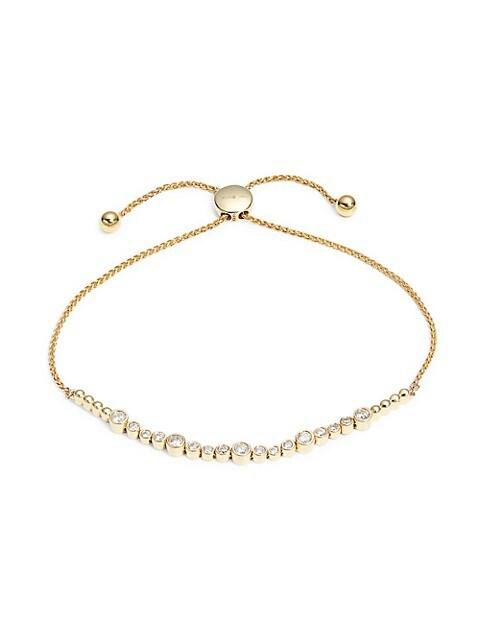 Saks Fifth Avenue 14K Yellow Gold & Diamond Bolo Bracelet