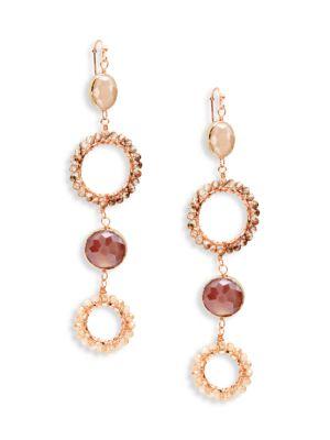 Panacea Accessories Goldtone & Crystal Drop Earrings