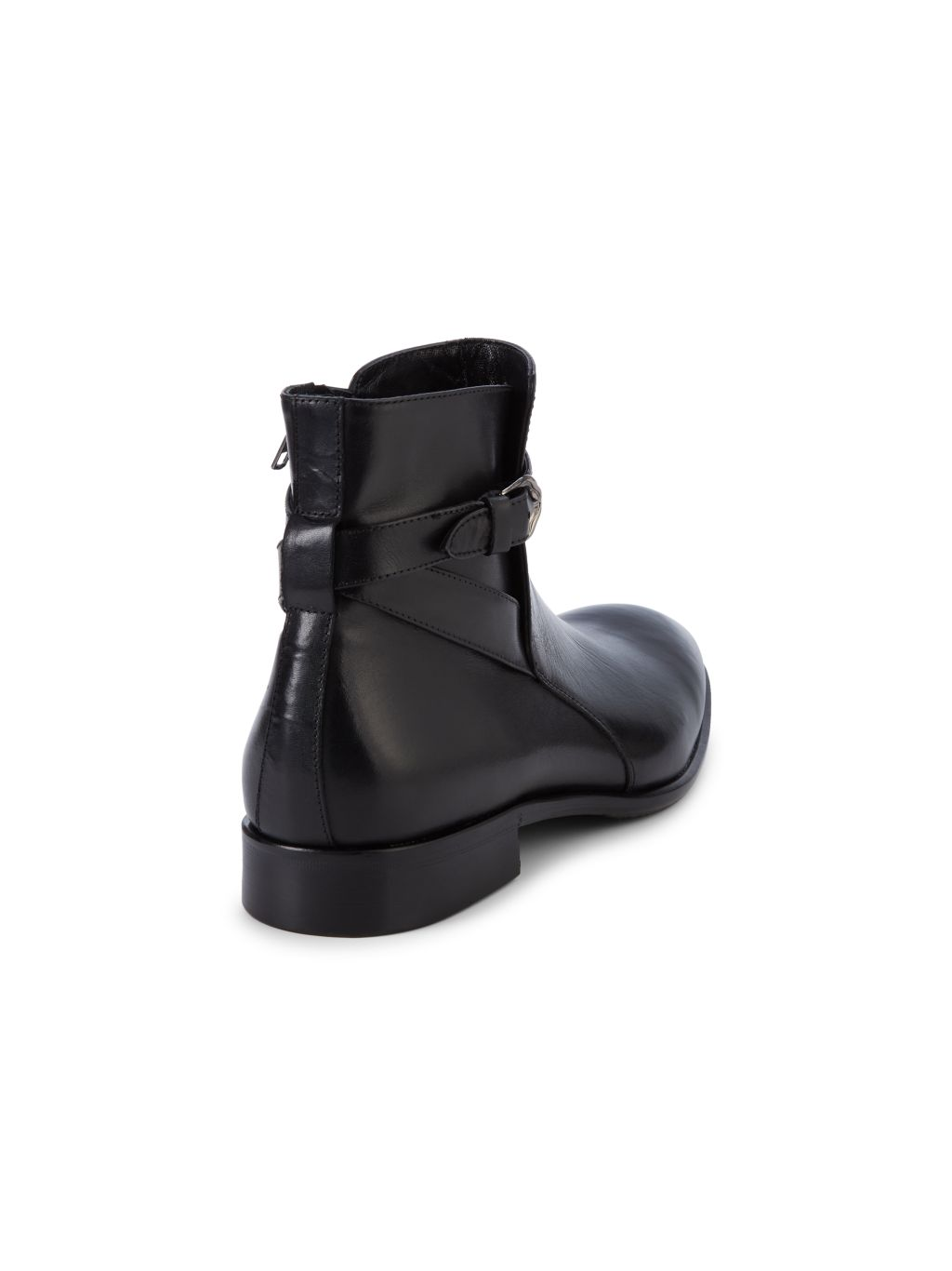 Roberto Cavalli Side Buckle Leather Boots