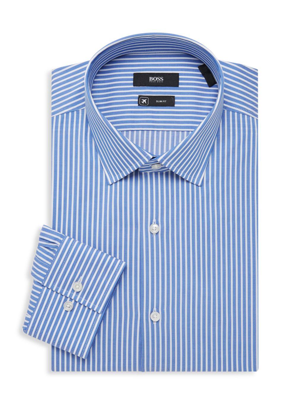 Boss Hugo Boss Jenno Slim-Fit Pinstripe Dress Shirt