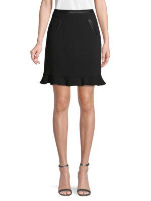 Karl Lagerfeld Skirts Ruffle Hem Skirt