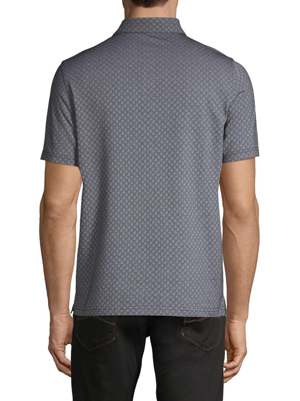 Saks Fifth Avenue Diamond-Print Cotton-Blend Polo