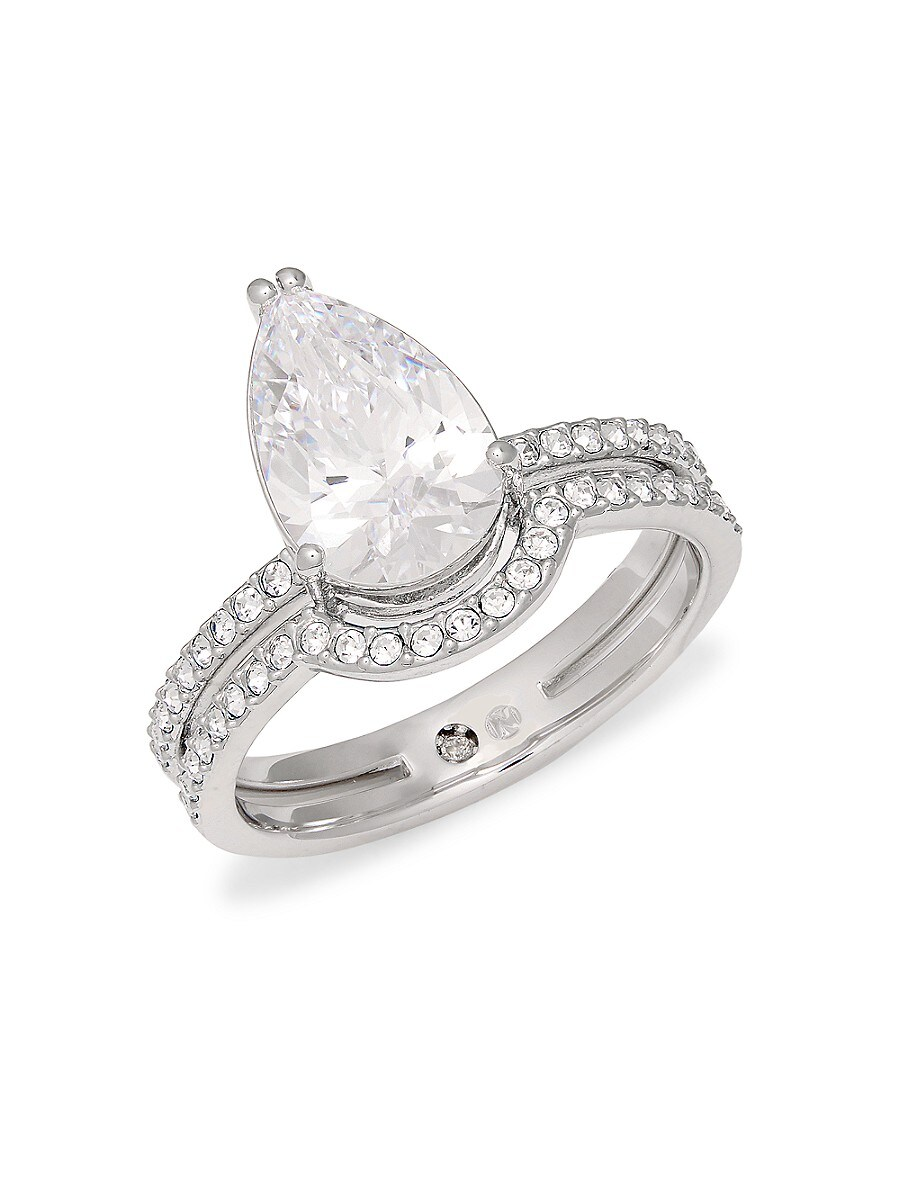 Women's Celeste Teardrop Crystal Ring/Size 6