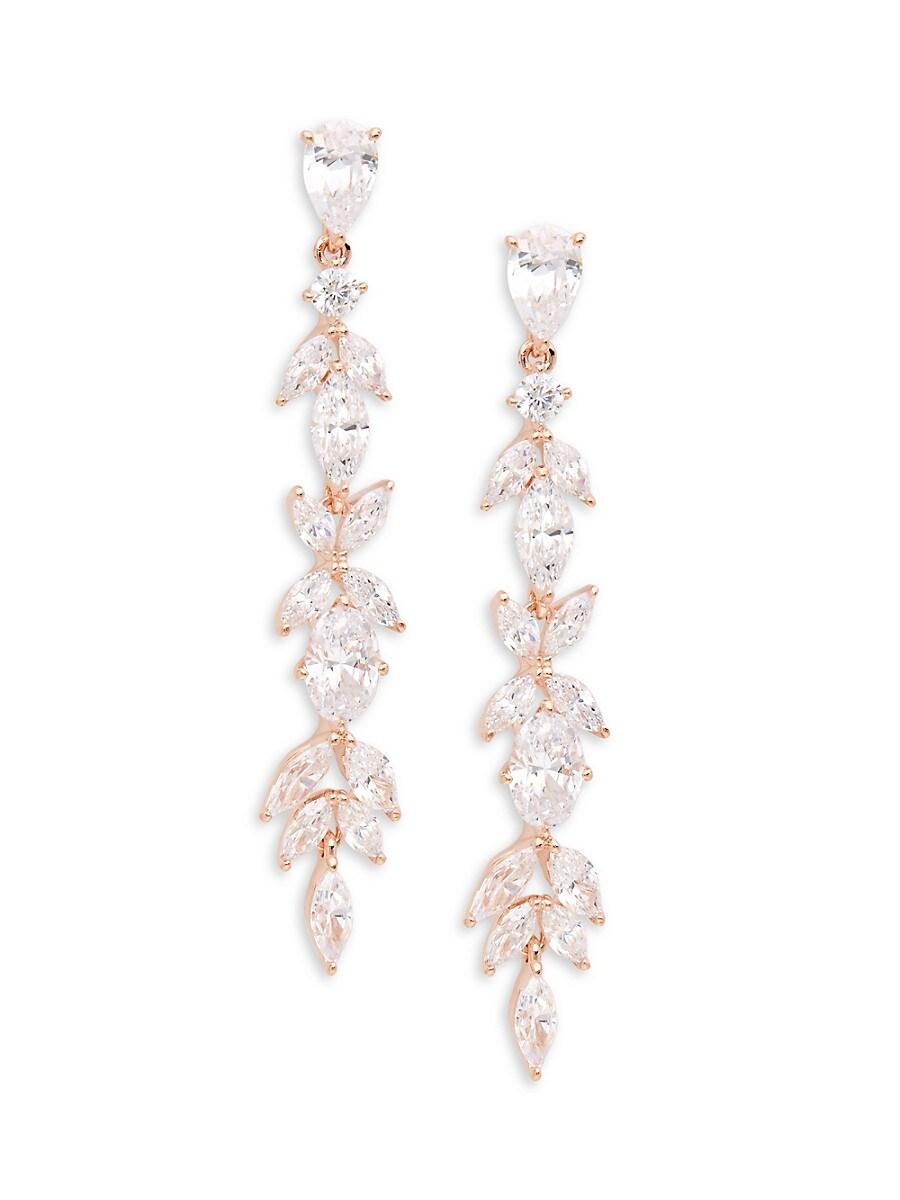 Women's Rose Goldtone & Crystal Drop Earrings
