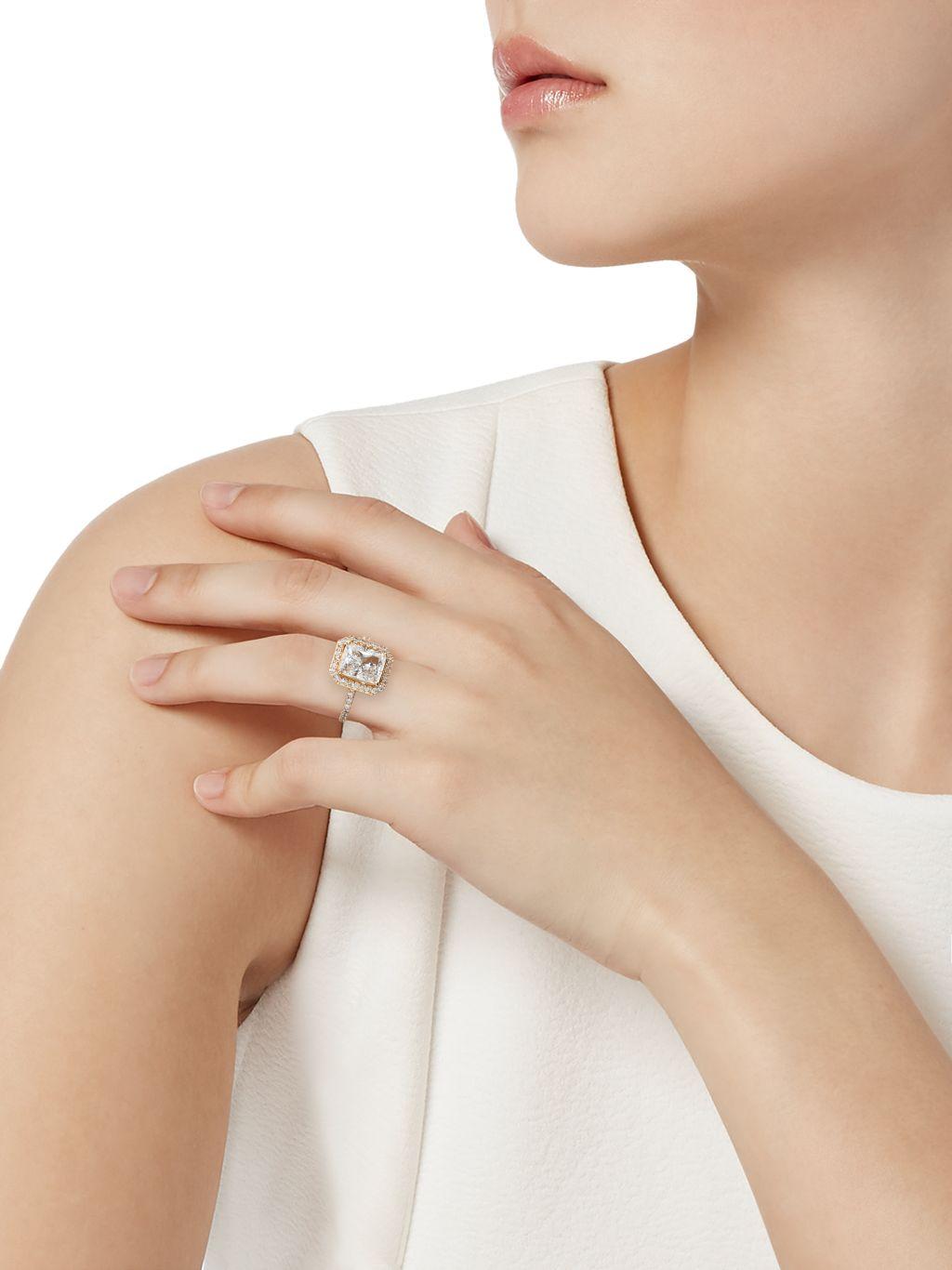 Adriana Orsini Goldtone & Crystal Ring