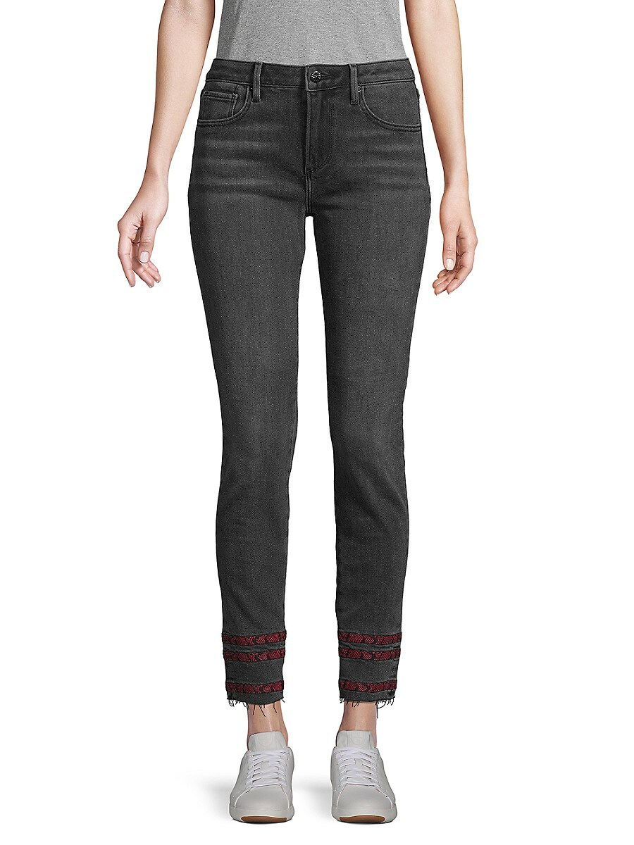 Women's Striped-Trim Ankle Jeans