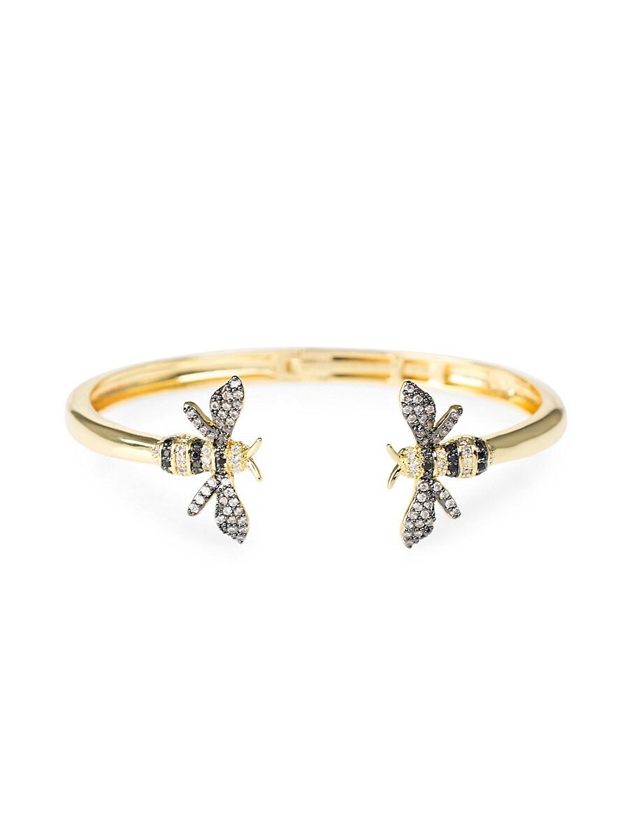 Women's Look Of Real Goldplated & Cubic Zirconia Bumblebee Cuff Bracelet