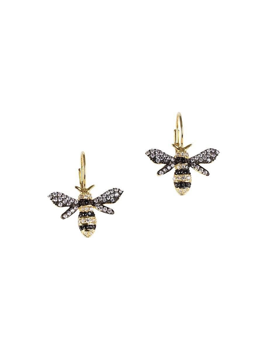 Women's Look Of Real Goldplated & Cubic Zirconia Bumble Bee Drop Earrings