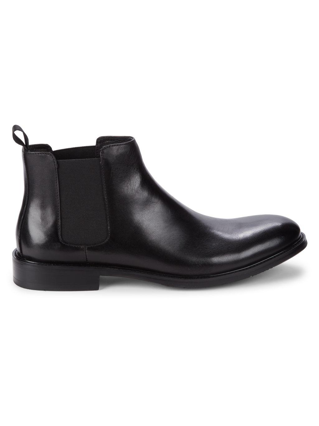 Robert Graham Metropolis Leather Chelsea Boots