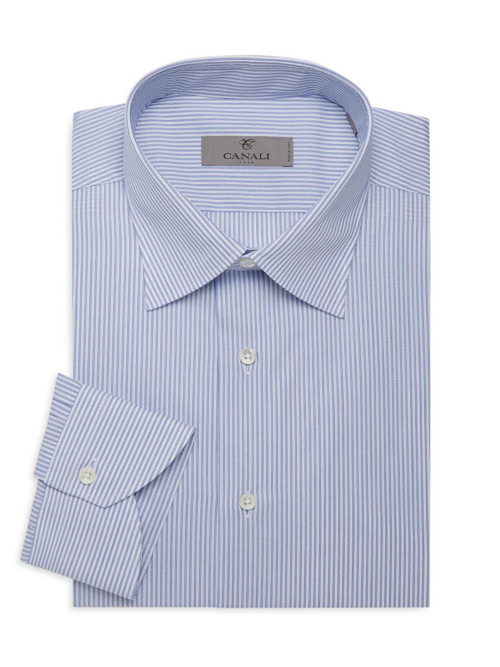 Canali Pinstriped Dress Shirt