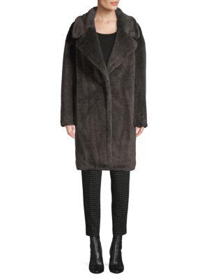 Faux Fur Teddy Coat by Donna Karan