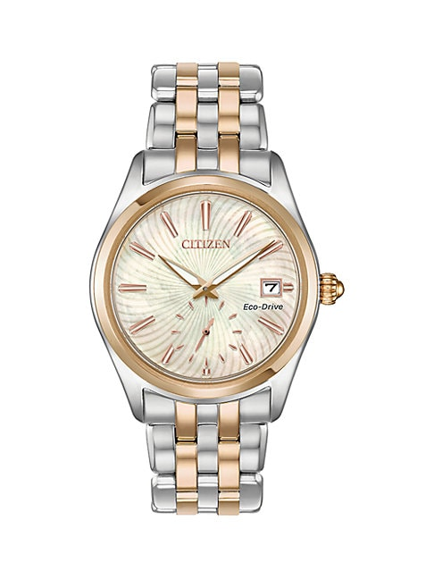 Citizen Lingerie CORSO ECO-DRIVE TWO-TONE STAINLESS STEEL BRACELET WATCH
