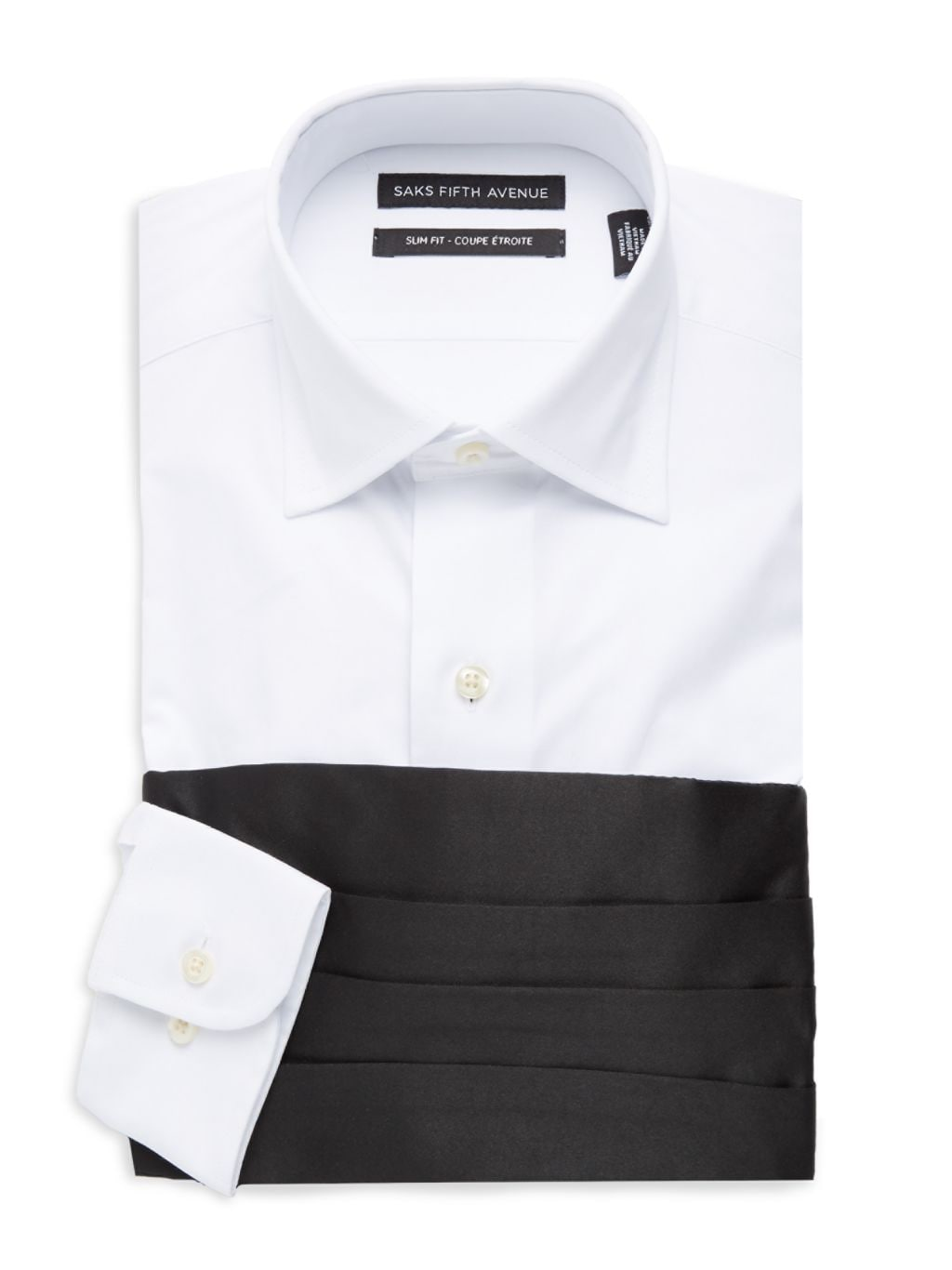 Saks Fifth Avenue 3-Piece Dress Shirt, Bow Tie & Cummerband Set