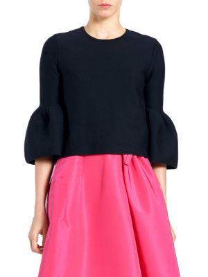 Carolina Herrera Knits Bell Sleeve Knit Blouse